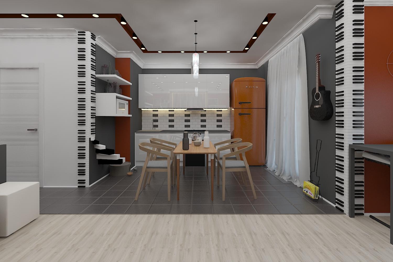 Небольшая квартира  для меломанов