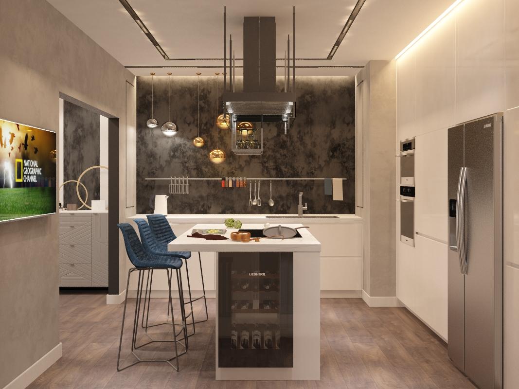 """Дизайн-проект 5 комнатной квартиры в современном стиле  в ЖК """"Самоцветы"""""""