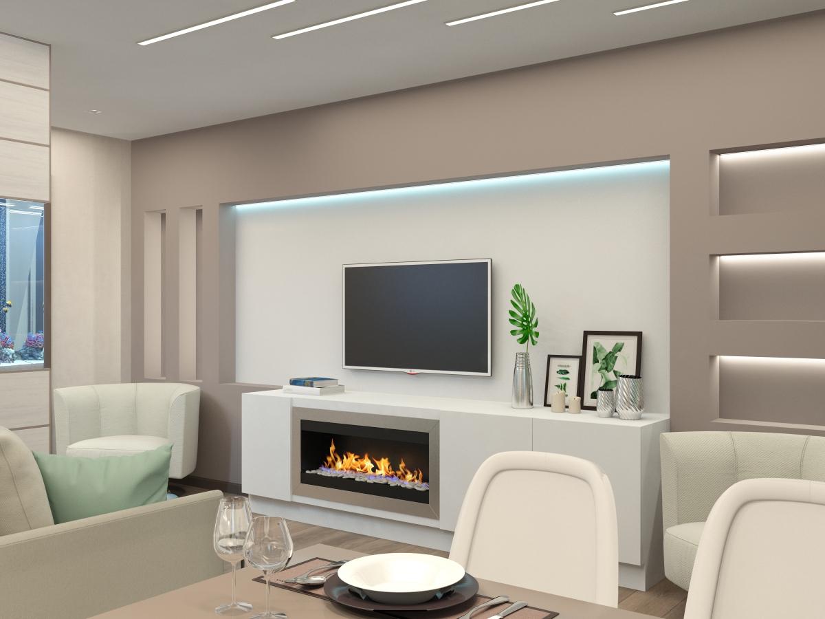 Дизайн-проект квартиры для семьи с двумя детьми в Колпино