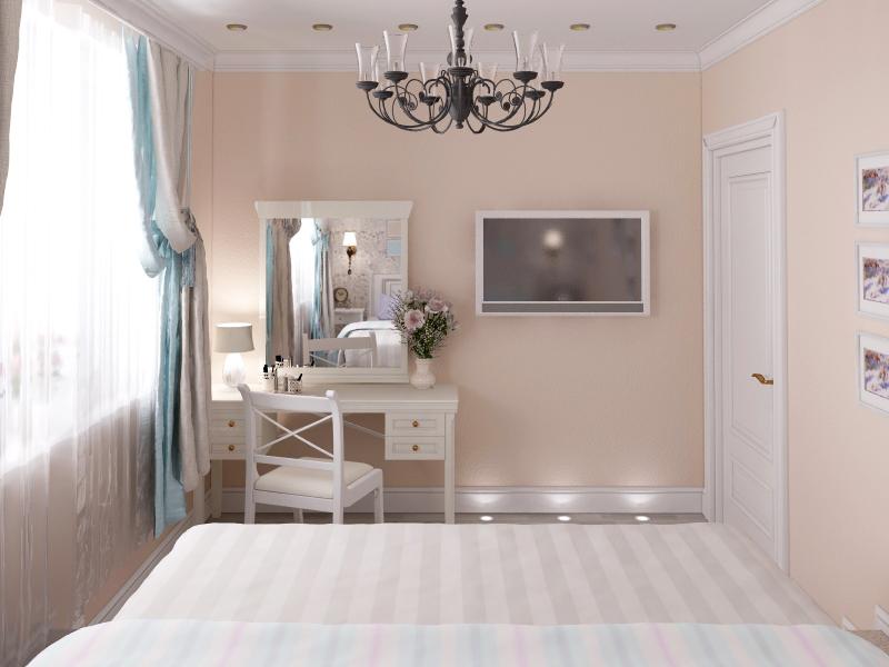 Дизайн-проект спальни в прованском стиле