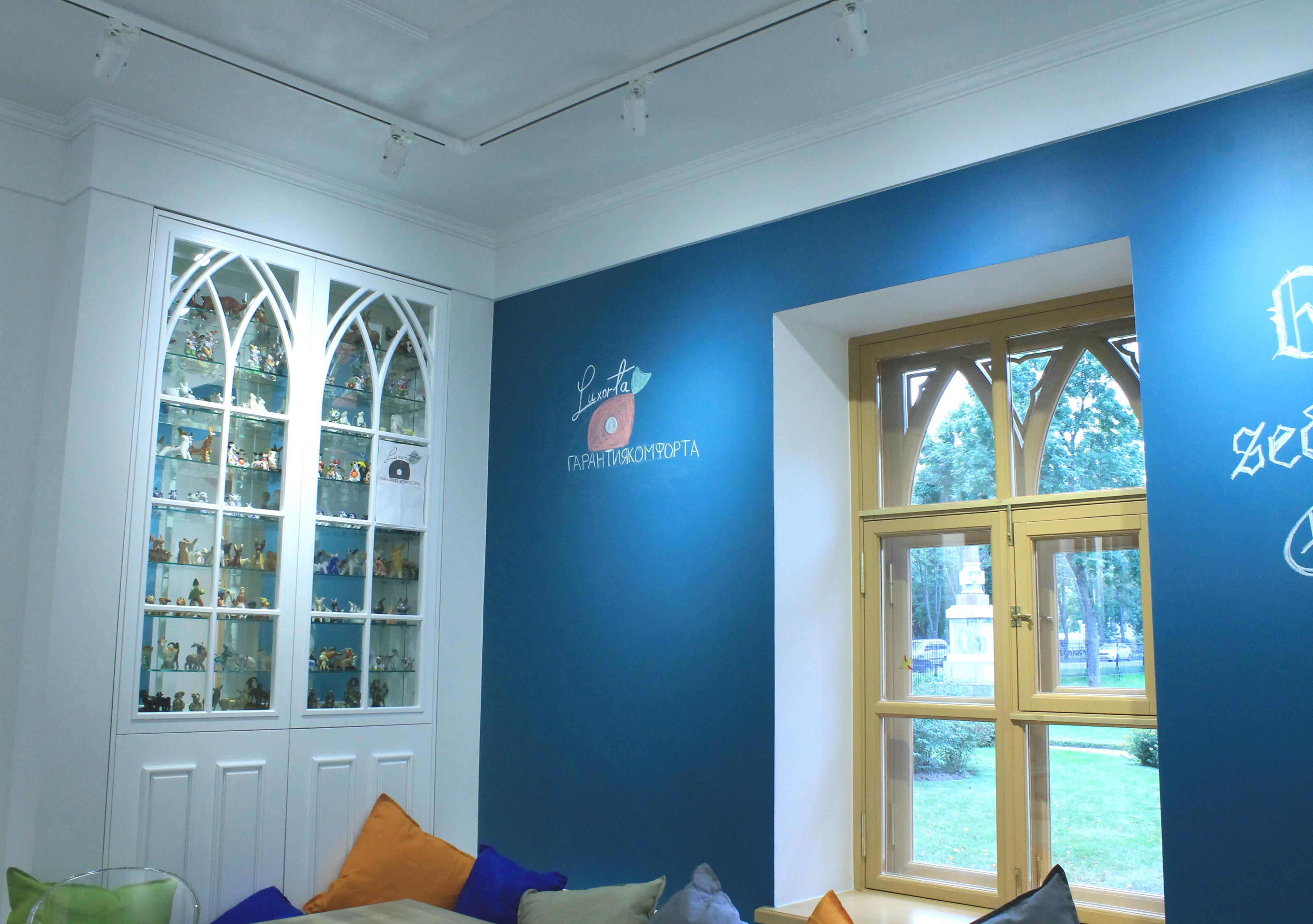Ремонт в офисах, студиях, библиотеках и экспозициях образовательного музейного комплекса «Новая ферма» в Санкт-Петербурге