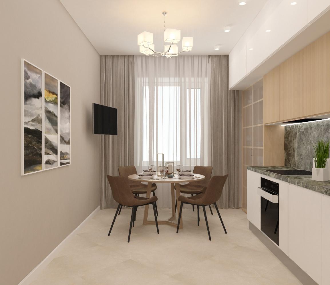 Дизайн-проект 3 комнатной квартиры в светлых тонах
