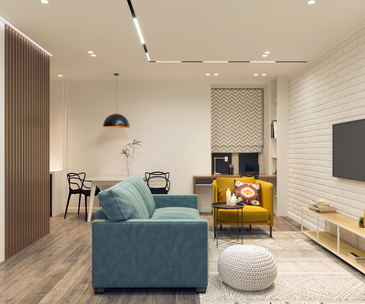 Дизайн-проект квартиры в современном стиле со скандинавскими мотивами