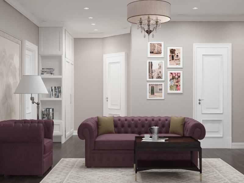Дизайн 3 комнатной  квартиры в ЖК Богемия