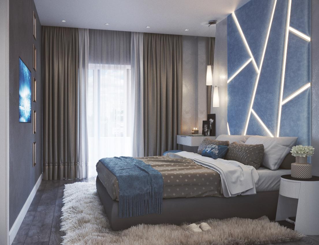 """Дизайн 2х комнатной квартиры в ЖК """"Мегалит"""""""
